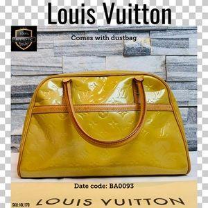 Louis Vuitton Satchel bag Tompkins vernis yellow
